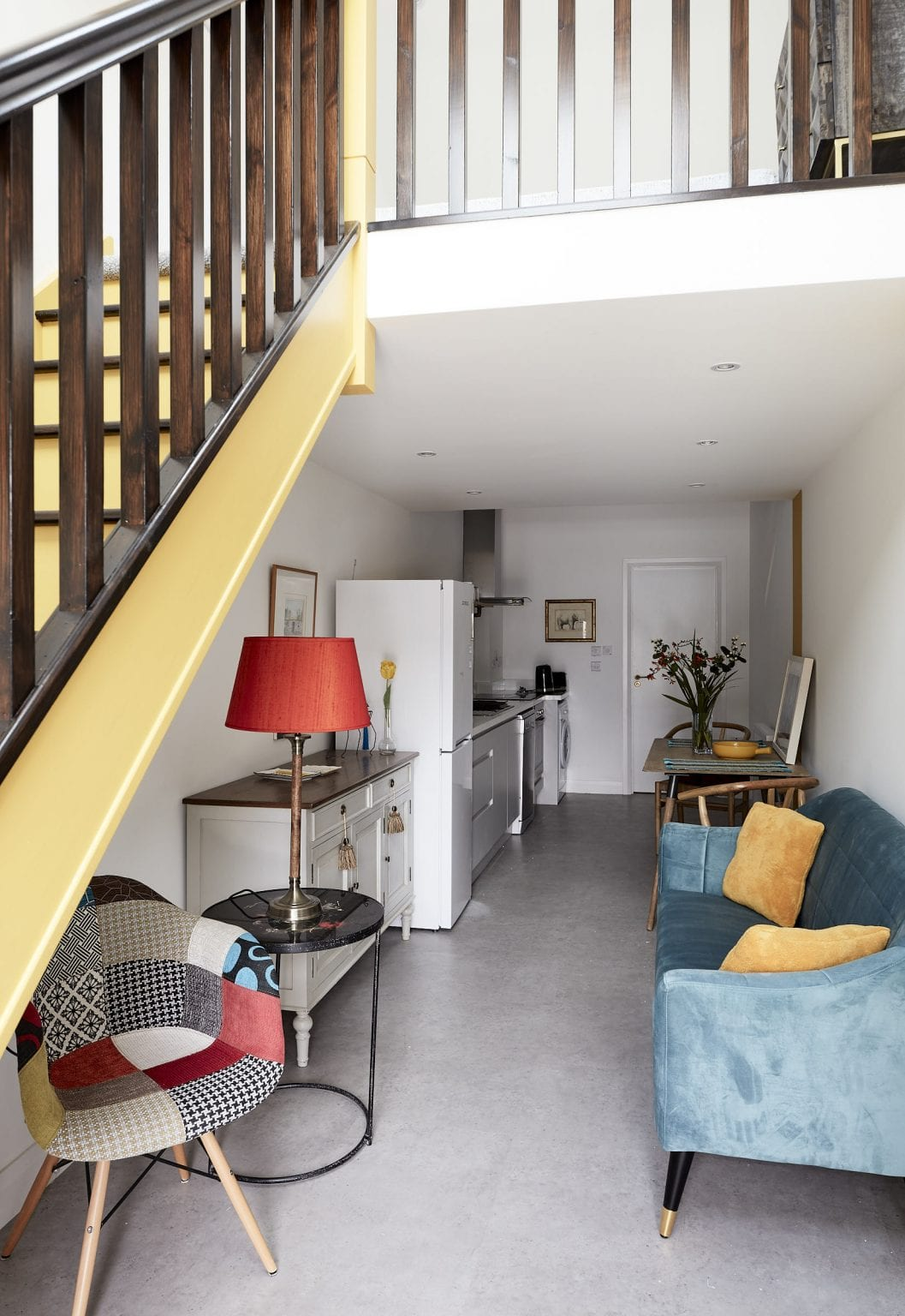 Converted into a room to rent space by Kitt Interiors, Interior Design Dublin. Entrance view.