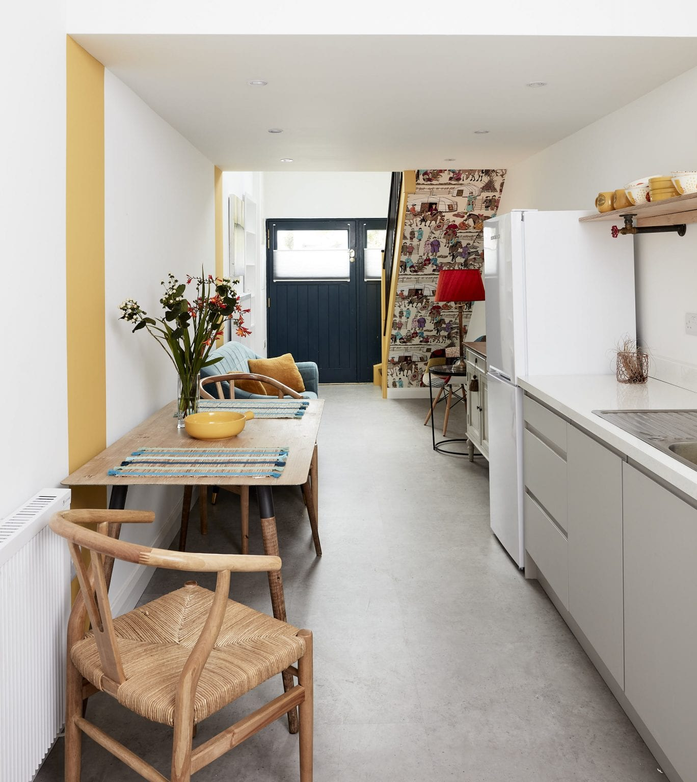 A garage converted into a studio apartment, by Kitt Interiors, Interior Design Dublin