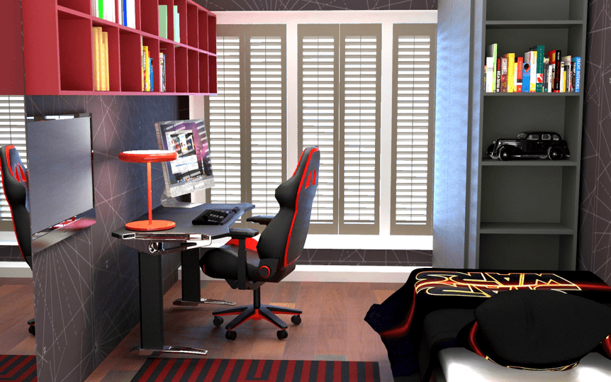 Interior design render of a boys bedroom, Galway, Ireland