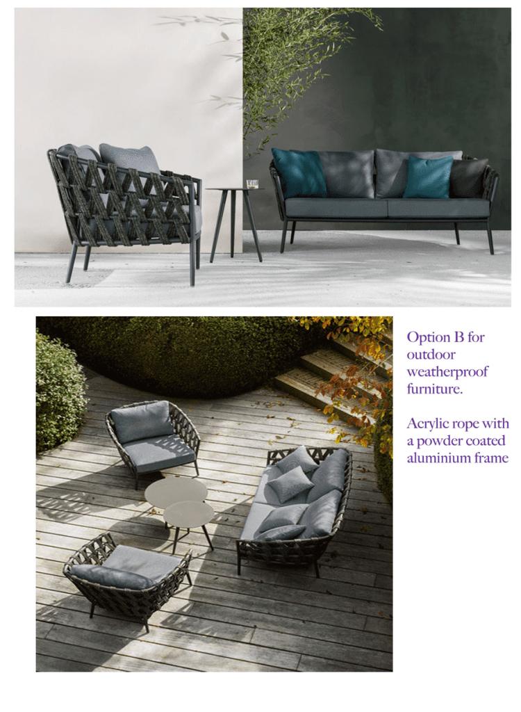 Garden furniture mood board by Kitt Interiors, professional interior design Dublin